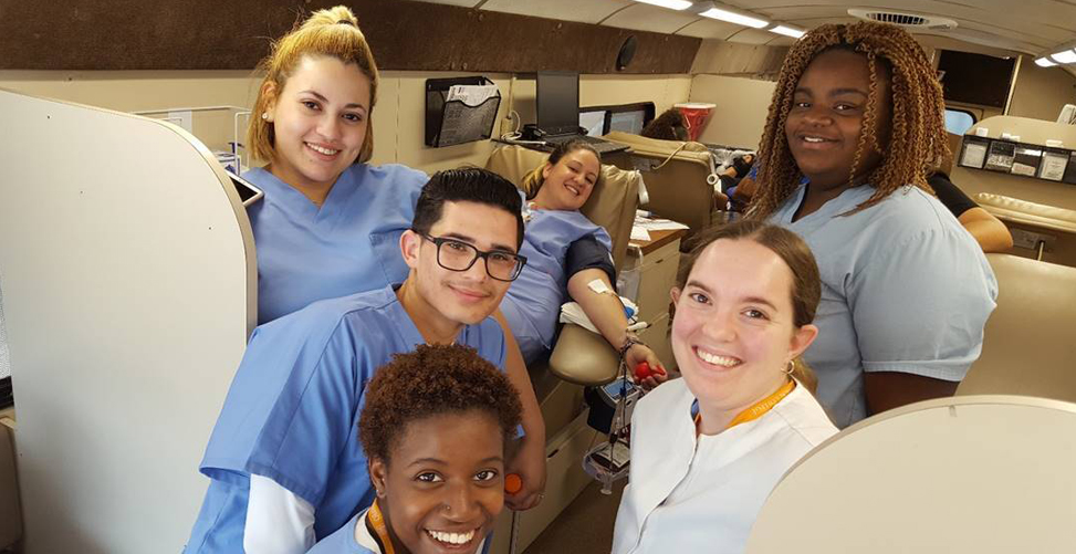 Image of Students from the OTC Medical Assisting program