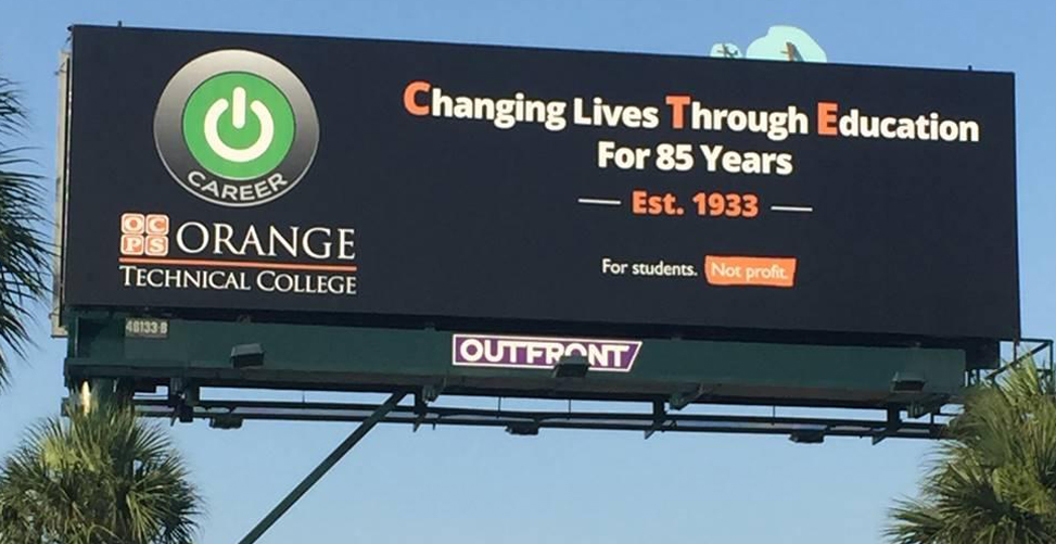 Image of the new CTE billboard